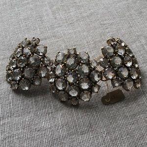 J. Crew Rhinestone cuff bracelet